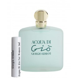 les échantillons Giorgio Armani Acqua Di Gio For Women 2ml